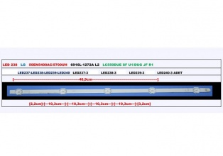 "LED ЛЕНТА STRIP 50"" INCH L2 TYPE 5 LED"