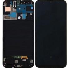 LCD + TOUCH FULLSET GALAXY A50 (SM-A505F), BLACK